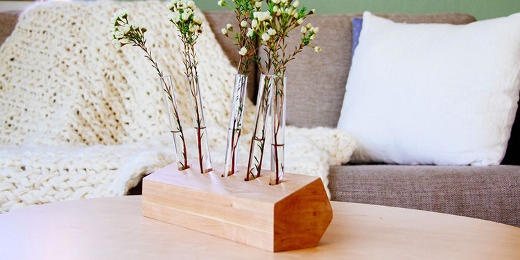 Build a Wooden Test Tube Vase