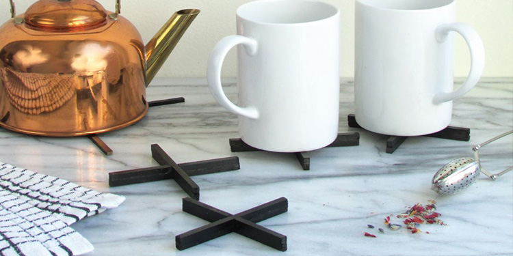DIY Minimal X-Shaped Coaster Set