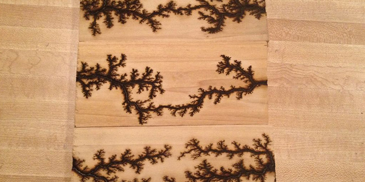 Wood Lichtenberg Figures
