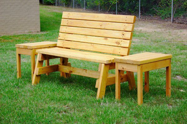 Outdoor Bench and Table