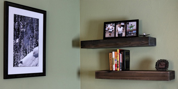 DIY Wood Floating Shelf For $10