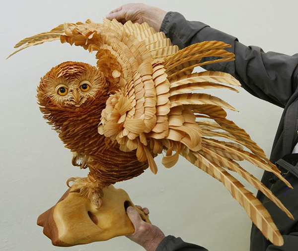 Wood Chip Sculptures by Sergei Bobkov 1