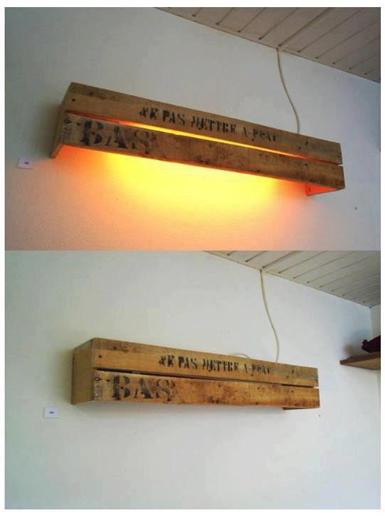 Best creative ways to recycle wood pallets into lamps my - Fabriquer table avec palette bois ...