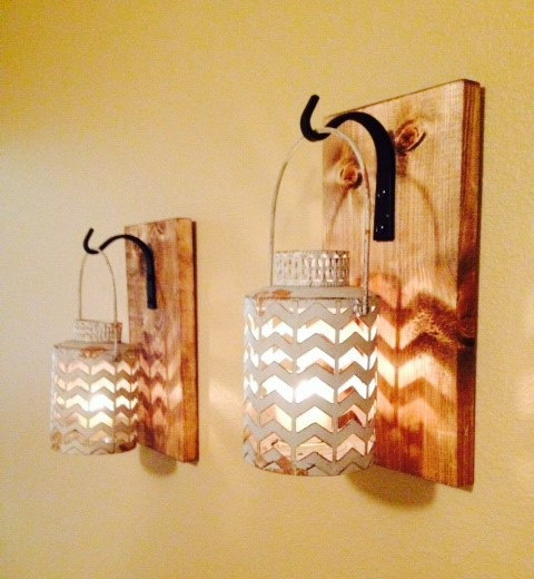 Best creative ways to recycle wood pallets into lamps my for Wood bathroom wall decor