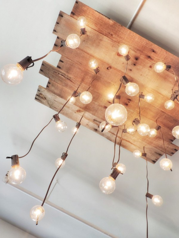 Wood Pallet Ceiling Lights