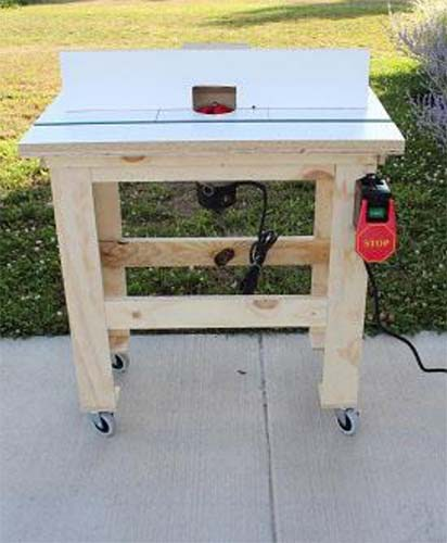 Top 10 free diy router table plans ideas my woodworking for How to make a router table stand