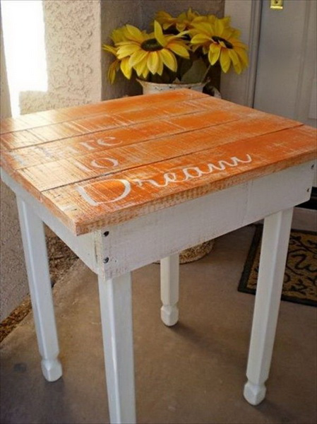 Chic Pallet Couch Table