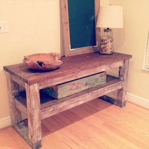 Classical Pallet Entry Way Table