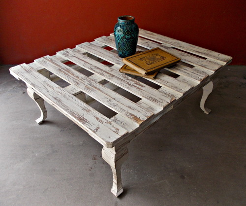 Mid Century Inspired Pallet Coffee Table