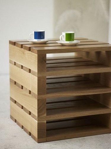 Ultra-Chic Tiered Pallet Coffee Table