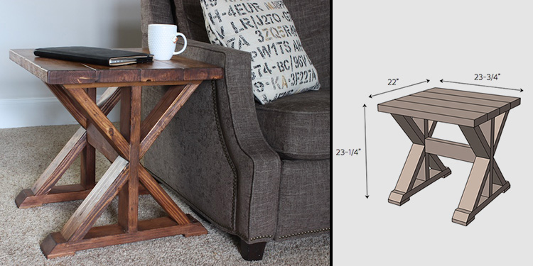DIY Side Table for $20